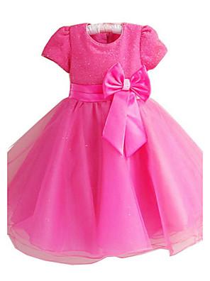 Mädchen Kleid-Party/Cocktail einfarbig Polyester Ganzjährig Rosa / Rot / Weiß