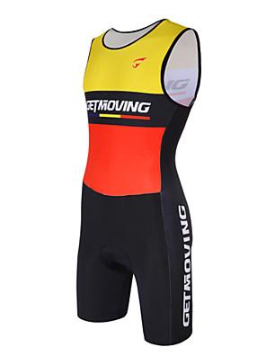 Getmoving® Macacão para Triathlon Mulheres / Homens Sem Mangas MotoRespirável / Design Anatômico / Compressão / Materiais Leves / Bolso
