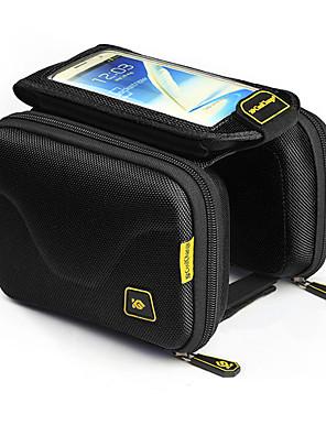 CoolChange® Cyklistická taška 1.5LLBrašna na rám / Mobilní telefon Bag Nositelný / Dotyková obrazovka Taška na kolo 600D PolyesterTaška