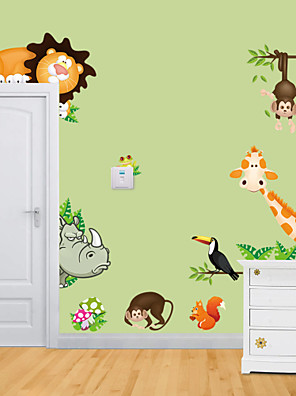 wall stickers Vægoverføringsbilleder, dyr zoo pvc wall stickers