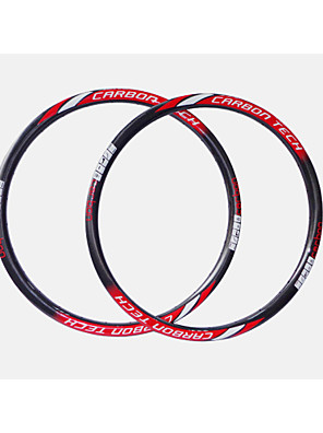 גובה תהליך החדש neasty + בצורה חלקה אדום מדבקה לבנה פחמן מלא סיבי MTB אופניים שפה = 28mm רוחב = 27mm