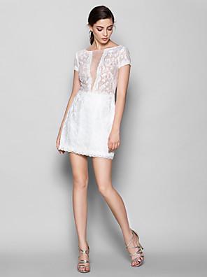 Lanting Bride® Krátký / Mini Krajka Šaty pro družičky Pouzdrové Kopeček Větší velikosti / Malé s Krajka