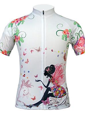 JESOCYCLING® Camisa para Ciclismo Mulheres Manga Curta MotoRespirável / Secagem Rápida / Resistente Raios Ultravioleta / Á Prova-de-Pó /