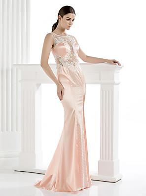 아플리케와 TS couture® 공식적인 저녁 드레스 플러스 사이즈 / 아담 칼집 / 열 특종 바닥 길이 새틴
