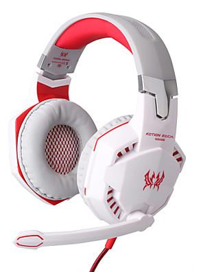 """כל אוזניות 3.5 מ""""מ g2000 קווית על שליטת אוזן משחקי נפח עם מיקרופון למחשב"""
