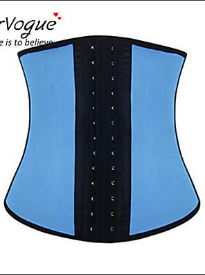Burvogue Women's Blue Sport Latex Girdle Underbust Corset Waist Shaper