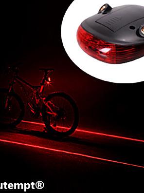 Cykellys / Baglygte til cykel LED / Laser Cykling Vanntett / Nedslags Resistent AAA Lumens Batteri Cykling-Belysning