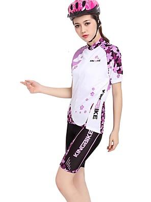 KINGBIKE® Cyklodres a kraťasy Dámské Krátké rukávy Jezdit na kole Prodyšné / Rychleschnoucí / Nositelný / Zadní kapsaDres / Dres +