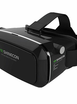 vr box shinecon virtual reality 3D-bril karton 2,0 vr headset (zwarte kleur)