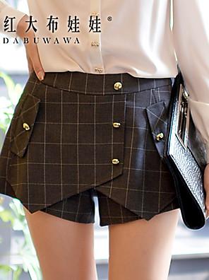 Kvinders Hverdag/Arbejde Shorts Bukser Mikroelastisk Spandex/Polyester