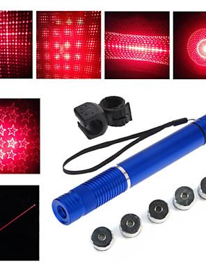 lt - 5mW 650nm viditelný nastavitelný paprsek červený laser pen svítilna - černá červená zlatá tříska modrá