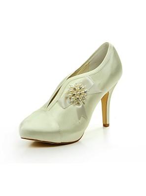 Wedding Shoes - Saltos - Saltos / Arrendondado - Champagne / Dourado / Prateado / Branco / Marfim / Vermelho / Preto - Feminino -
