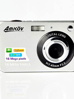 "amkov cdc3 digitale camera 16.0mp 2,7 ""LCD-scherm 550mAh lithiumbatterij hd digitale camera"