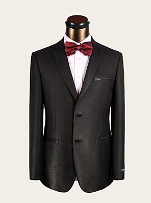חליפות - גזרה צרה ( כחול כהה , צמר / ויסקוזה , שני חלקים )