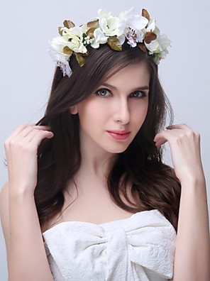 Women's / Flower Girl's Polyester / Plastic Headpiece - Wedding / Special Occasion / Casual Headbands / Wreaths 1 Piece