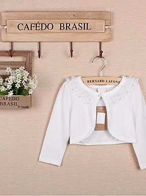 Wraps Wedding / Coprispalle per bambini Coprispalle Maniche lunghe Cotone Bianco / Rosa Matrimonio / Da sera / Casual OvalePizzo / Con