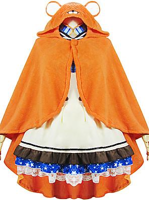 Inspirado por Himouto Fantasias Anime Fantasias de Cosplay Hoodies cosplay Patchwork / Estampado Laranja Manga Comprida Capa