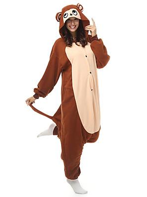 Kigurumi פיג'מות קוף /סרבל תינוקותבגד גוף פסטיבל/חג הלבשת בעלי חיים Halloween לבן טלאים פליז ארקטי Kigurumi ל יוניסקסהאלווין (ליל כל