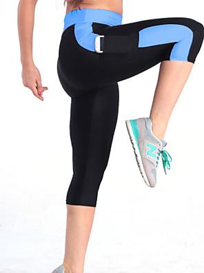 Corrida Calças / Fundos Mulheres Respirável / Compressão / Materiais Leves / Elástico Poliéster Ioga / Exercicio e Fitness / Corrida