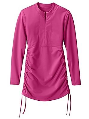 Sportovní Dámské Plavky Odolný vůči UV záření Plavky Tops Jednodílné a zakrývající Jednodílné a zakrývajícíŽlutá / Bílá / Zelená /