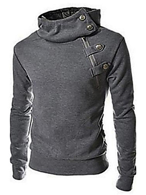 Egyszínű Férfi Activewear szettek,Hosszú ujjú,Casual / Sport,Pamut / Poliészter