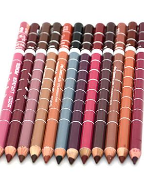 תוחם לשפתיים יבש עפרון ברק צבעוני / מחזיק לאורך זמן / טבעי / מתיבש מהר / נושם לדעוך שחור / Beige / כסוף