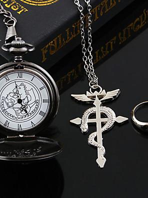 Šperky Inspirovaný Fullmetal Alchemist Edward Elric Anime Cosplay Doplňky Náhrdelníky Czarny / Stříbro Stop Pánský