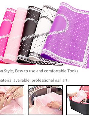 1pcs rechthoek kant pad nail manicure nail art gereedschap (kleur random)