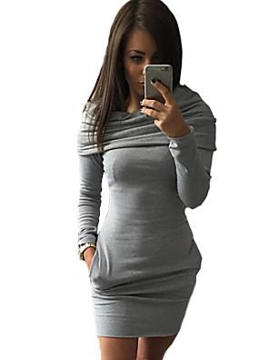 שמלה - מיני - תערובות כותנה - קז'ואל - בלי בטנה