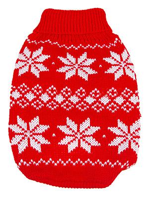 כלבים סוודרים Red בגדים לכלבים חורף / קיץ/אביב פתית שלג Keep Warm / חג מולד / לשנה החדשה