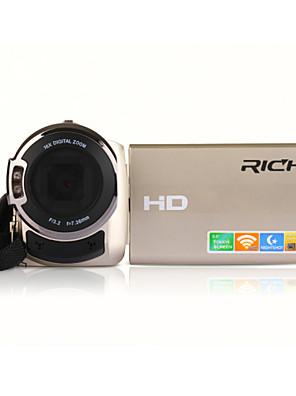 """rich® פיקסלים 1080p FW-560s HD 16 מגה פיקסל 16x זום 3 """"מצלמת וידאו מצלמה דיגיטלית Full HD על מסך LCD"""