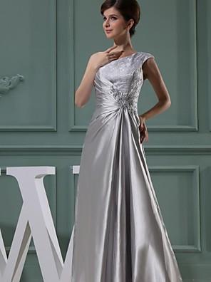 Lanting Bride® De Baile Vestido Para Mãe dos Noivos Longo Chiffon - Laço(s)
