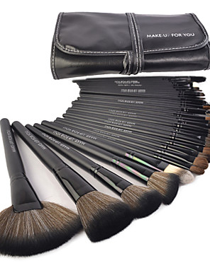 Make-up For You® 32pcs Pony Hair Makeup Brushes set Professional/Limit bacteria Black Foundation/Powde/Blush/Shadow/brow/lash/lip brush