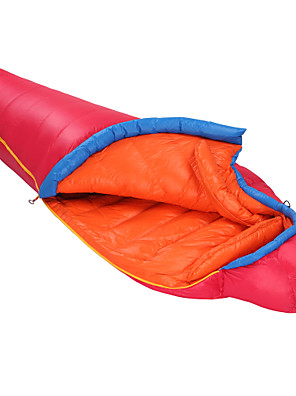 Saco de dormir Tipo Múmia Solteiro (L150 cm x C200 cm) -15 to -10 Degrees Celsius Penas de Pato 1000g 203cm X 80cmEquitação / Campismo /