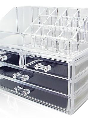 Smikkészlet tárolás Szépségápolási doboz / Smikkészlet tárolás Műanyag / Akril Egyszínű Others 24*15*18.6 Biszkvit-porcelán