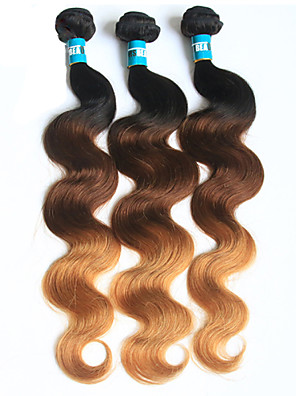 halloween 3 stuks body wave menselijk haar weeft brazilian textuur human hair weeft lichaam wave