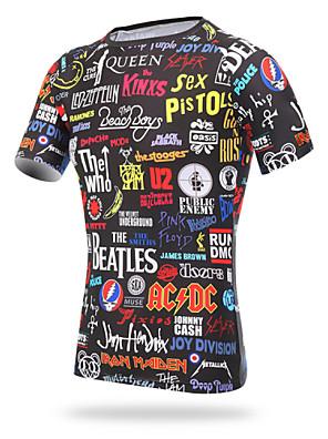 XINTOWN® חולצת ג'רסי לרכיבה לגברים שרוול קצר אופניים נושם / ייבוש מהיר / עמיד אולטרה סגול / דחיסה / חומרים קלים ג'רזי / טי שירט / צמרות