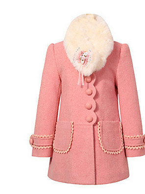Dívky Bavlna Zima Bundičky a kabáty,Dlouhý rukáv