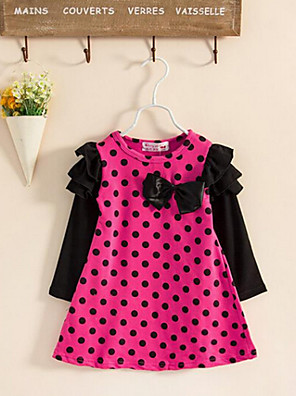 Girl's Dress,Cotton Spring Red
