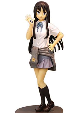 K-ON Mio Akiyama 18CM נתוני פעילות אנימה צעצועי דגם בובת צעצוע