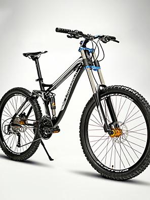 Mountain Bike Wielrennen 24 Speed 66.0 cm/700CC 60mm Heren / Uniseks Volwassene EF51-8 Dubbele schijfrem Verende VoorvorkVolledige vering