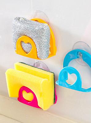 mosás szivacs kád mosdó mosogatókendővel tároló állvány tartó tapadókoronggal (véletlenszerű szín)