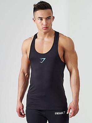 ריצה חולצה / חולצת POLO / אימונית / צמרות לגברים בלי שרווליםנושם / חדירות גבוהה לאוויר (מעל 15,000 גרם) / חדירות ללחות / ייבוש מהיר /