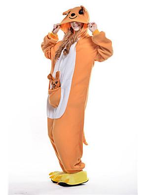 Kigurumi Pyjama  nieuwe Cosplay® / Kangoeroe Gympak/Onesie Festival/Feestdagen Animal Nachtkleding Halloween Geel Patchwork Fleece