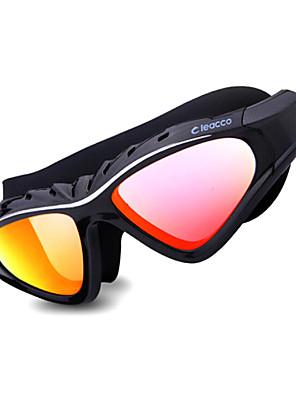 LEACCO svømmebriller Dame / Herre / Unisex Anti-Tåge / Justerbar Størrelse / Anti-UV / Rids-resistent Silika Gele PCGul / Rød / Sort /