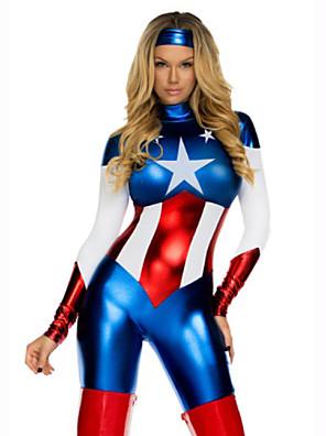 Super Hero Costume Captain America Movie Costume Zentai Jumpsuits Halloween costumes for women