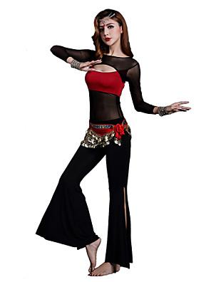 ריקוד בטן תלבושות בגדי ריקוד נשים אימון מודאלי שתי וערב 2 חלקים שרוול ארוך טבעי מכנסיים / עליון S:45cm/M:46cm/L:47cm