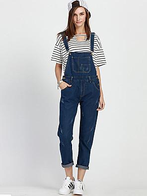 Uden ærmer Kvinders Plusstørrelser / Hverdag Jumpsuits Uelastisk Polyester