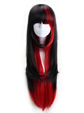 Lolita Wigs Punk Lolita Lolita Dlouhé Červená / Černá Lolita Paruky 75 CM Cosplay Paruky Barevné bloky Paruka Pro Dámské