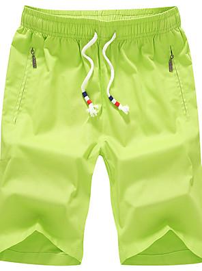 JISNEYMen's Shorts,Casual / Sport / Plus Sizes Striped Cotton Men's Beach Shorts